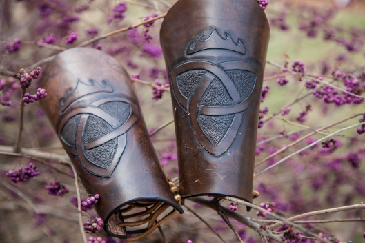 Handcrafted Leather Bracers